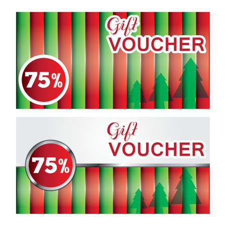 christmas gift vouchers Ilustrace