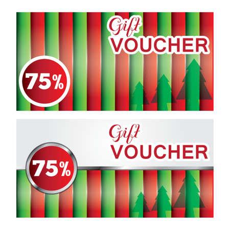 christmas gift vouchers Illustration