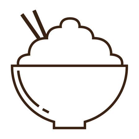 bowl of rice Illustration