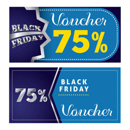 black friday gift vouchers Ilustrace