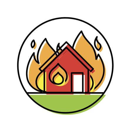 火の家 写真素材 - 79152039