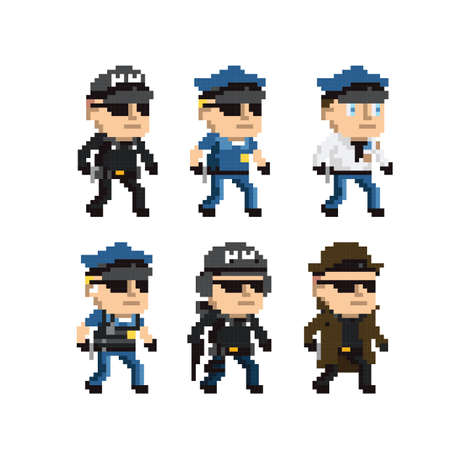 collection of law enforcement icons