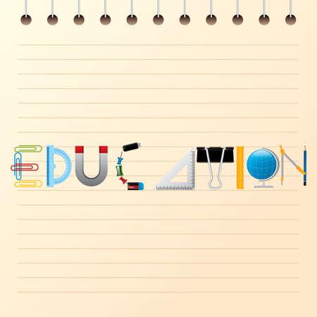 education text design Ilustrace