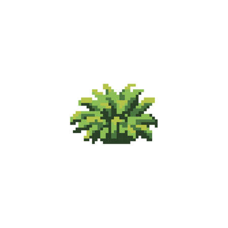 pixelated green plant Ilustração
