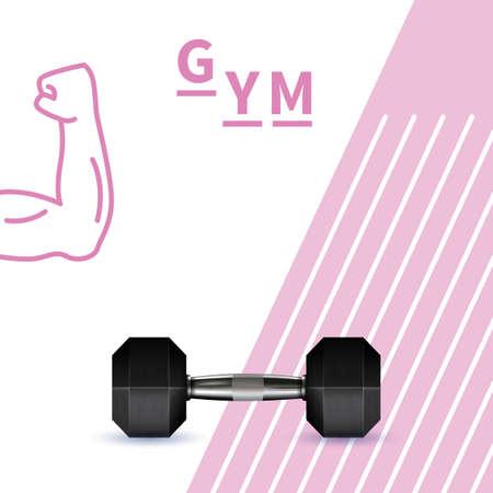 gym dumbbell design Illustration
