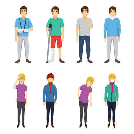 collection of sick people Stock Vector - 79152153