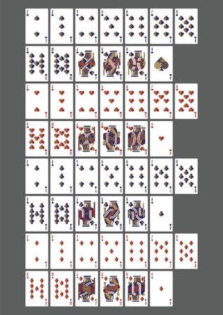 Set di icone di carte da gioco Archivio Fotografico - 79152156