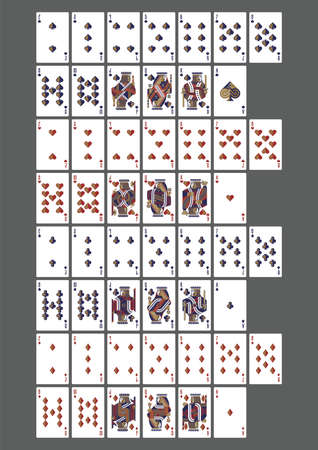 set of playing cards icons 矢量图像