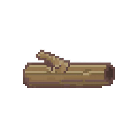 pixelated wooden log