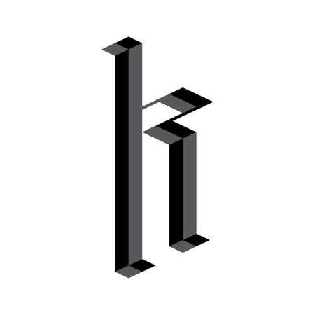 手紙 k  イラスト・ベクター素材