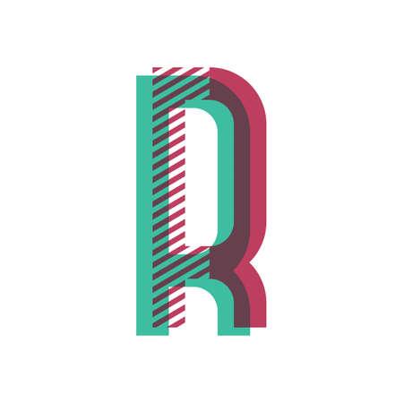 r の文字  イラスト・ベクター素材
