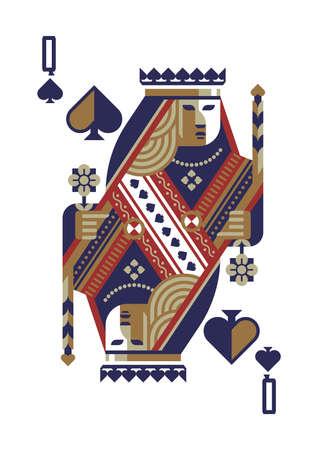 queen of spades Illustration