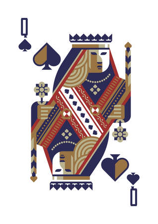 queen of spades Vettoriali