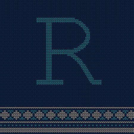 letter r Иллюстрация