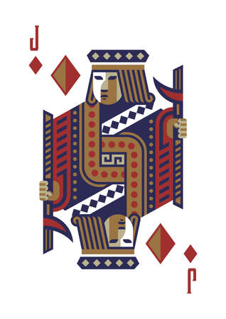 jack of diamonds Ilustrace
