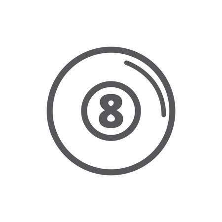 number 8 billiard ball
