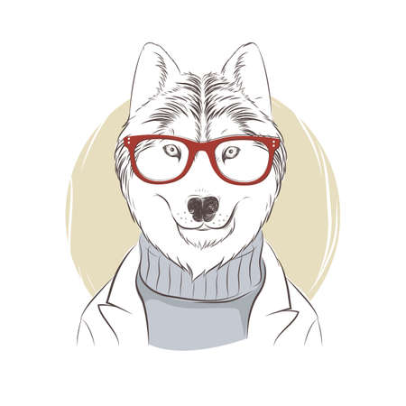 wolf character Stock Vector - 79152283