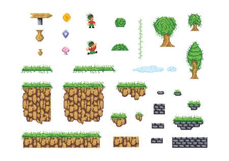 set of game concepts Ilustração