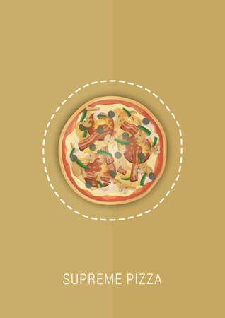 supreme pizza design