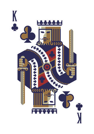 king of clubs Zdjęcie Seryjne - 79152359