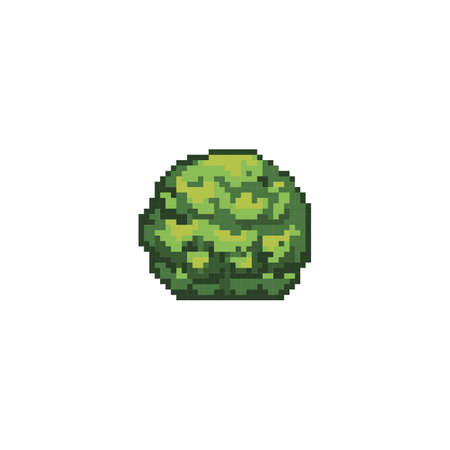 Pixelated mos plant Stock Illustratie