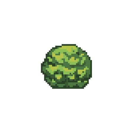 pixelated moss plant
