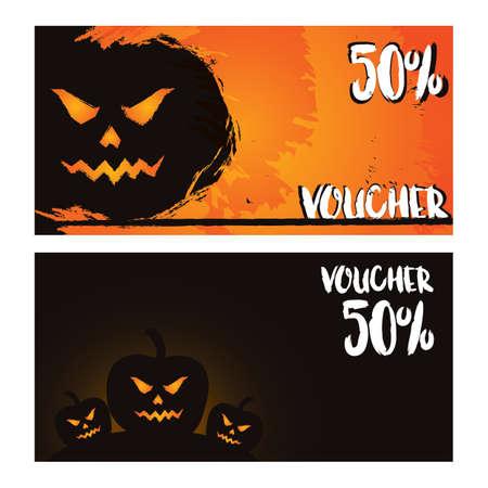 halloween event gift vouchers Illustration