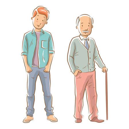 set mannelijke pictogrammen Stock Illustratie