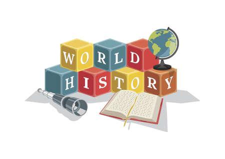 world history concept design Illusztráció