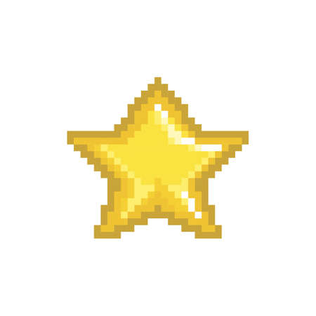 pixelated gold star