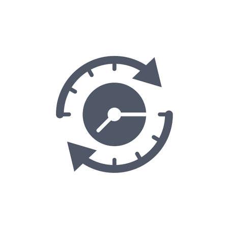 clockwise clock Illustration