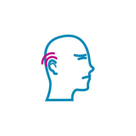 head with earache concept Illustration
