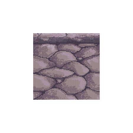 ピクセル化された石のプラットフォーム  イラスト・ベクター素材