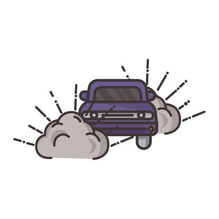Criminele auto Stock Illustratie