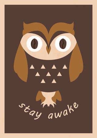 coffee concept poster design Illustration