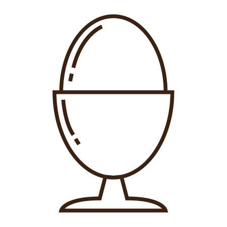 half boiled egg Illusztráció