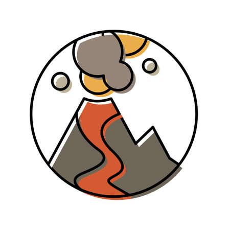 volcanic eruption Stock Vector - 79152514