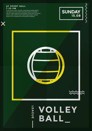 volley ball league design Ilustração