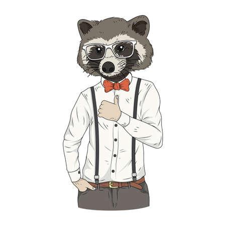raccoon character Illustration