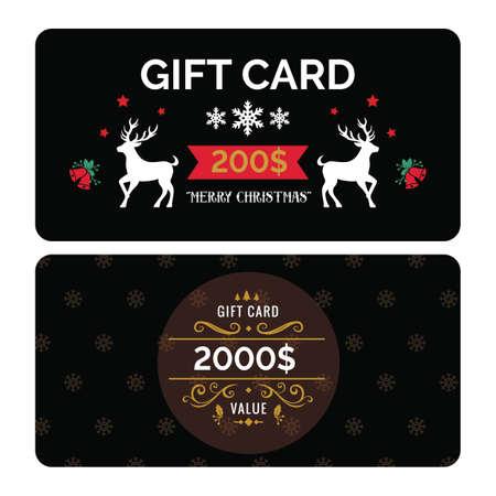 クリスマス giftcard  イラスト・ベクター素材