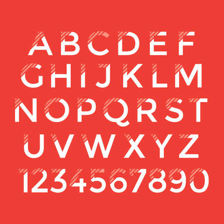 collection of alphabets and numbers