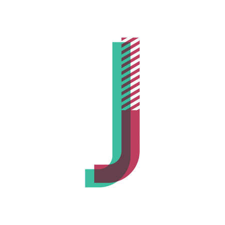 手紙 j  イラスト・ベクター素材
