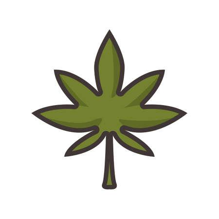 marijuana leaf Иллюстрация