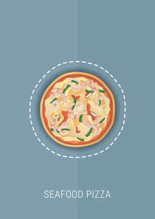 seafood pizza design