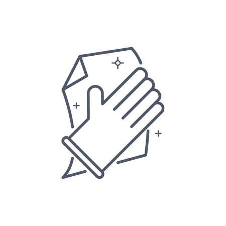 hand cleaning Ilustração