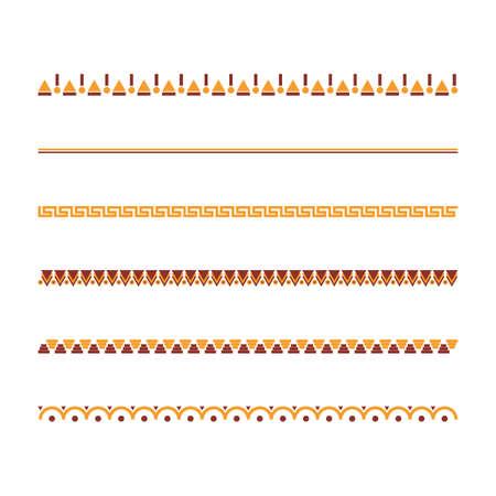 Sammlung aztekischer Stammes-Designs Standard-Bild - 79152662