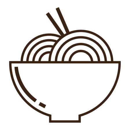 bowl of noodles Illustration