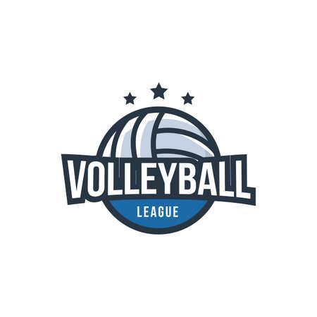 volleyball logo element design Иллюстрация