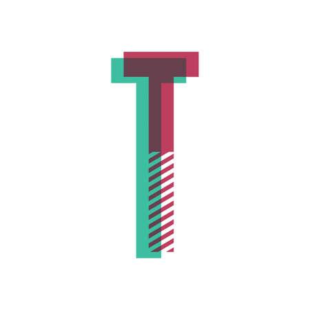 letter t Ilustração