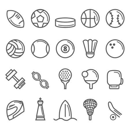 collectie van sport iconen